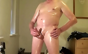 Oiled jerk off &amp_ cum swallow