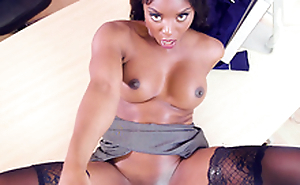 Dirty talking ebony milf boss Jasmine Webb fucked in her office