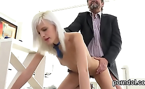 Erotic college girl was seduced and reamed by her older schoolteacher